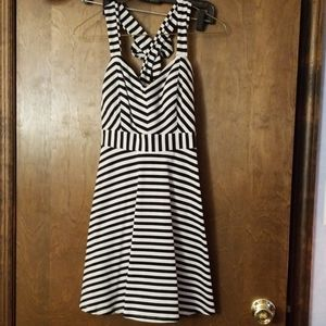 Candie's Striped Black and White Dress